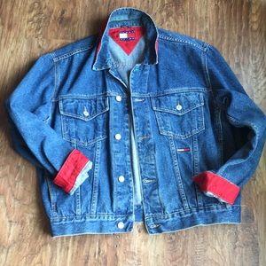 Vintage Women/'s Tommy Hilfiger denim jacket jean jacket Tommy Jeans Tommy denim coat hippie boho denim SmallMedium